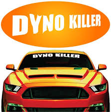 Jdm Racing Muscle Car Decal Dyno Killer Windshield Banner Topchoicedecals