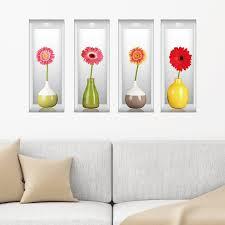 Ebern Designs Germinis In Vases Wall Decal Wayfair