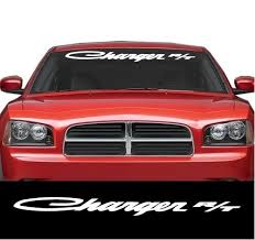 Dodge Charger R T Windshield Banner Decal Sticker Aftermarket Replacement Non Factory Custom Sticker Shop