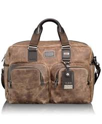 tumi distressed leather carry on is a