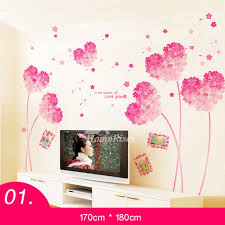 girls bedroom wall stickers flower pvc