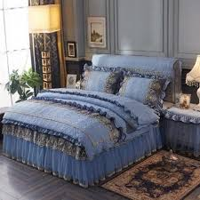 20 4pcs washed cotton quilted lace
