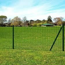 Tidyard Garden Mesh Fence Panel Set Security Fencing Steel Wire Green Amazon Co Uk Kitchen Home