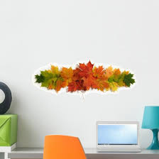 Autumn Maple Leaves Wall Decal Wallmonkeys Com