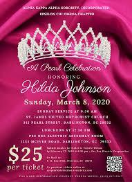 A Pearl Celebration Honoring Hilda Johnson - 8 MAR 2020
