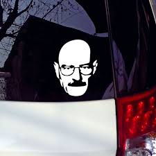 Funny Vinyl Stickers Heisenberg Vinyl Car Window Decal Breaking Bad Walt White Cook Sticker Car Stickers Reflective Silver Wish