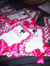 Invitacion Cumpleanos Barbie Silhouette Ideas By Karinaideas By