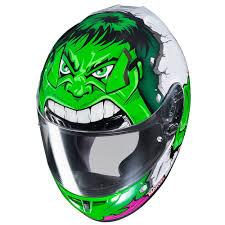 Hjc Cl 17 Marvel Hulk Mc4 Full Face Helmet Green Available At Motocross Giant