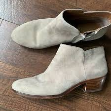 petty ankle bootie taupe suede leather