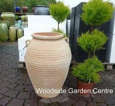 large terracotta aegean garden urn