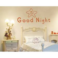 Good Night Quote With Star Wall Decal Kids Wall Decal Sticker Mural Vinyl Art Home Decor 1243 Turquoise 16in X 7in Walmart Com Walmart Com