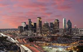 dallas texas skyline at dawn