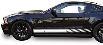 Amazon Com Bubbles Designs 2x Decal Sticker Vinyl Side Racing Stripes Compatible With Ford Mustang Gt 2005 2007 2008 2009 2010 To 2016 Automotive