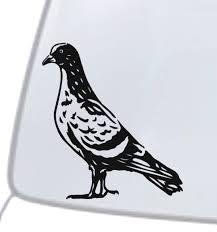 Pigeon Dove Vinyl Decal Sticker Car Window Wall Bumper Feral City Bird Animal For Sale Online