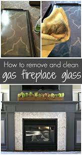 cleaning gas fireplace glass gas
