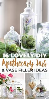 diy apothecary jars vase filler ideas