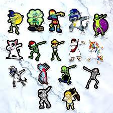 16pcs Set Hiphop Dabbing Zebra Unicorn Cartoon Stickers For Suitcase Skateboard Laptop Motorcycle Car Decoration Child Toys Creative Sticker Wish