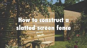 How To Construct A Slatted Screen Horizontal Fence Youtube