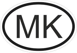Mk Macedonia Country Code Oval Sticker Bumper Decal Car For Sale Online Ebay