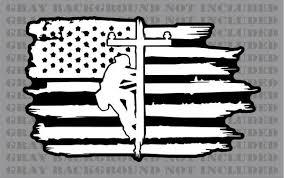 Lineman Linesman Power Line Pole American Flag Vinyl Sticker Decal Firehouse Graphics