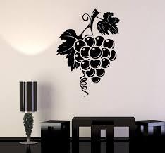 Vinyl Wall Decal Wine Grapes Fruit Food Kitchen Design Stickers 752ig Vinyl Wall Decals Wall Decals Craft Room Design