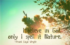nature quotes i believe in god only i spell it nature