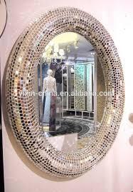 mosaic glass mirror large fish shape
