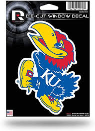 Amazon Com Ncaa Rico Industries Die Cut Vinyl Decal Kansas Jayhawks Sports Fan Decals Sports Outdoors