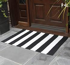 white striped rug 27 5 x 43 inches