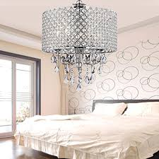 chrome finish 4 light round chandelier