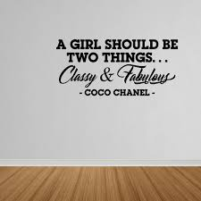Wall Decal Quote Classy And Fabulous Coco Chanel Wall Decal Lettering Quote Dp144 Walmart Com Walmart Com