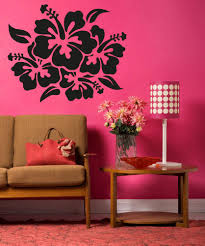 Vinyl Wall Decal Sticker Hibiscus Flowers Os Aa238 Stickerbrand