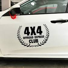 4x4 Off Road Express Club Car Stickers Creative Decoration Decals For Doors Suv Jeep 4wd Auto Tuning Styling Vinyls Vinyls D25 Car Sticker Stickers 4x44x4 Car Stickers Aliexpress