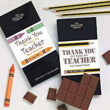 teacher gift chocolate by quirky gift