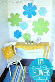 make diy wood shim flowers creator