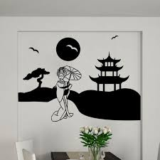 Wall Sticker The Tibetan Temple Wall Decals Wall Decal Cities And Travels Japan Ambiance Sticker