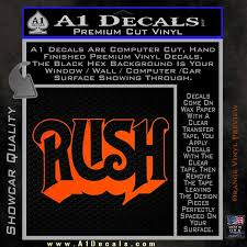 Rush Decal Sticker A1 Decals