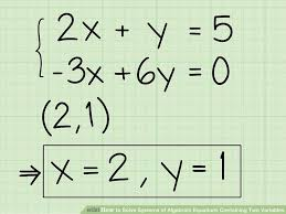 how to solve equations with x and y