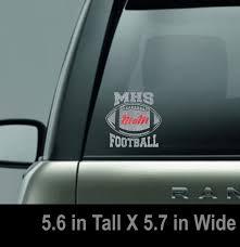 Glitter Mhs Football Mom Window Decal