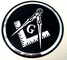 Masonic Decal Silver 3 5 Logo Freemason Car Black Chrome Freemasonry Sticker Ebay