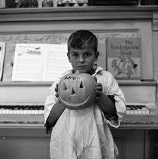 Adrian Campbell & His Halloween Pumpkin, October 1960   Ann Arbor ...
