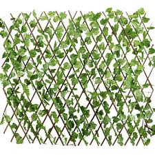 Expandable Artificial Faux Ivy Leaf Fence Decor Privacy Screen Patio Yard Garden Trellis Fence Fence Decor Decorative Trellis