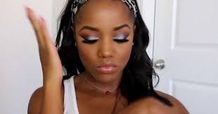 silver eye makeup application