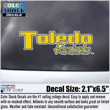 University Of Toledo Rockets Script Car Decal Rockets Bookstore