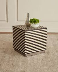 wood composite side table horchow com