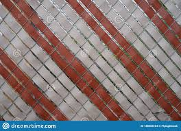 Chain Link Fence With Red And White Slats Stock Photo Image Of Playground Chainlink 148683164