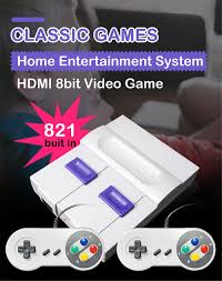 Retro Game Console HDMI/AV Mini TV 8 Bit Video Game Console Built in 821  Classic Games for Best Toys Gift Handheld Game Players|Handheld Game  Players