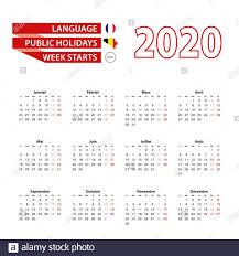 Calendario 2020 in lingua francese con i giorni festivi il paese ...