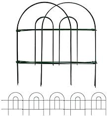 Amazon Com Amagabeli Decorative Garden Fence 18 In X 50 Ft Rustproof Green Iron Landscape Wire Folding Fencing Ornamental Panel Border Edge Section Edging Patio Flower Bed Animal Barrier For Dog Outdoor