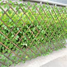 Retractable Artificial Garden Fence Expandable Faux Ivy Privacy Fence Wood Vines Climbing Frame Gardening Plant Shopee Philippines
